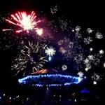 Eastleigh Bandstand Christmas fireworks 2012