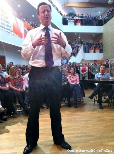 David Cameron at B&Q