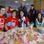 British Heart Foundation Valentine chocolate sale Barton Peveril