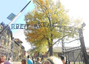 Auschwitz Gate: photo Jessica Jelley
