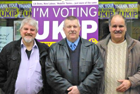 Former Lib Dem and Labour Councillors L-R: Glynn Davies-Dear,John Edwards and Andy Moore