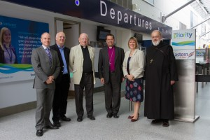 Southampton Airports Photographer has a sense of humour. We hope the Bishop has too..!