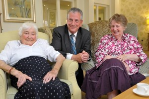 What a nice picture. Mike Thornton's visit clearly delighted these residents of Catherine Court.