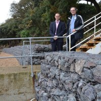 New coastal defences at Netley
