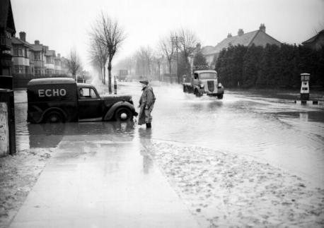 Leigh Road Eastleigh Flooded