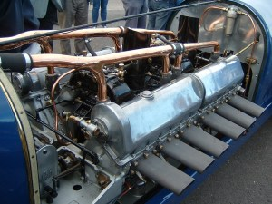 The refurbished engine, on display and running again.