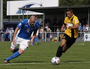 James Constable netted a  late equaliser for Eastleigh on Tuesday (photo by Tony Smith)