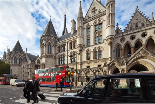 Royal Courts of Justice ,The Strand London