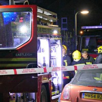 Log fire starts house fire