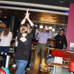 Guests celebrate a strike at the newly refurbished Hollywood Bowl in Eastleigh 1