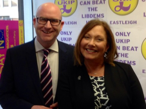 Ukip's Paul Nuttall and Patricia Culliigan