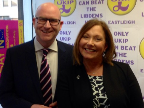Ukip's Paul Nuttall and Patricia Culliigan