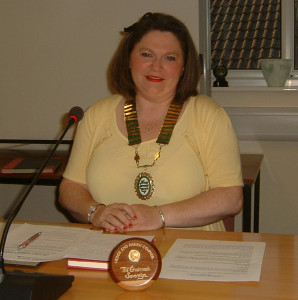 Cllr Emma Norman. Chair of Hedge End Town Council for 2015-16