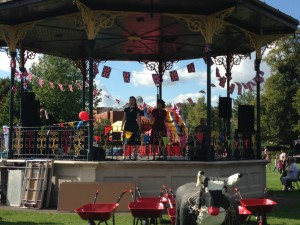 Air Raid Sirens performing on Eastleigh's Memorial Bandstand