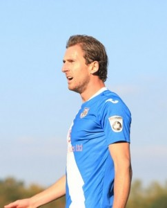 Striker Jack Midson came close for Eastleigh (photo by Tony Smith)