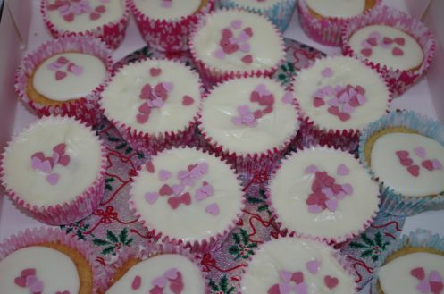 Colourful cup cakes