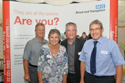 Eastleigh's award winning blood donors L-R  Jimmy Monaghan, Sue Parsons, Michael Thornton, Anthony Keep.