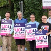 Striking lecturers cause disruption at University Open Day