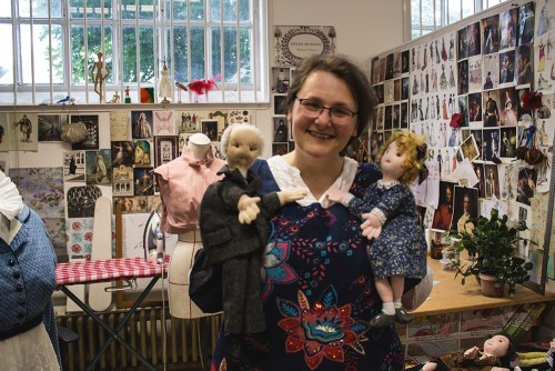 Helen McArdle with Puppets