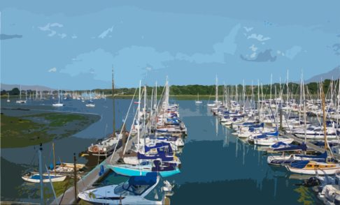 Hamble River from Mercury Yacht Harbour