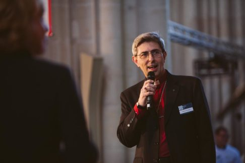 Bishop Tim speaking at the Beacon Cathedral event in 2016