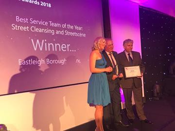 Eastleigh's Street Scene team scoops national award