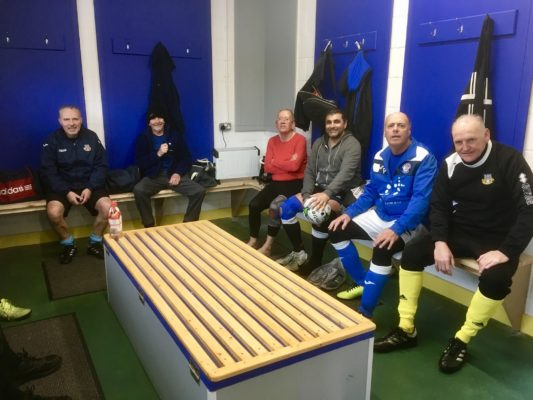 Some of the Eastleigh Walking Footballers making use of their new facilities