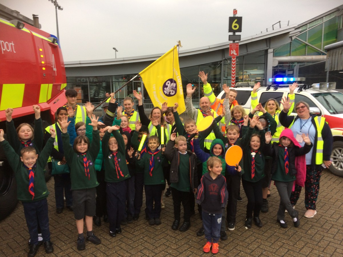 Eastleigh Cubs get airside at Southampton Airport