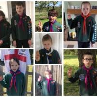Eastleigh Scouts go on a virtual march to celebrate St George's Day