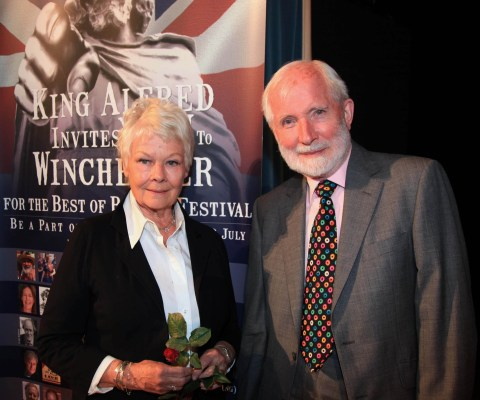 Dame Judi Dench with John Miller at Theatre Royal Winchester Credit Moira Blackwell