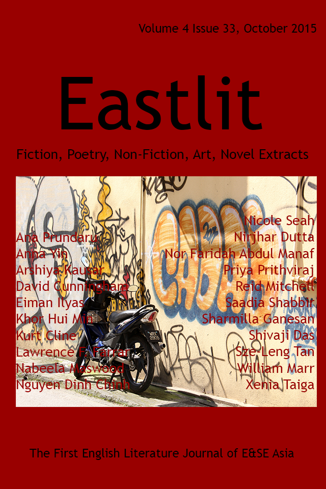 Eastlit October 2015 Cover. Picture: Chinatown KL Graffiti by Khor Hui-Min. Cover design by Graham Lawrence. Copyright photographer, Eastlit and Graham Lawrence.