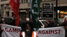 Tube cleaners' protest leader, Clara Osagiede. Photo: Neil Roberts