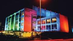 Fairfield hall by night Photo: Fairfield Hall