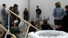 Students at a Q-Art event. Photo: Sarah Rowles