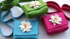 Isolyn wool felt flower bag Photo: Isolyn/East London Design Show