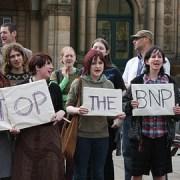 BNP protests. Photo Laser2k, flickr.co.uk