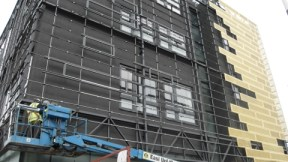 Construction work at the new school building