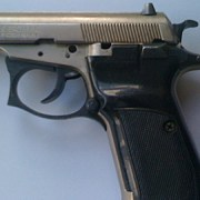 Semi automatic pistol carried by Mitchell Woods from Haggerston on train to Kent