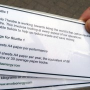 Re-usable tickets from the Arcola Theatre