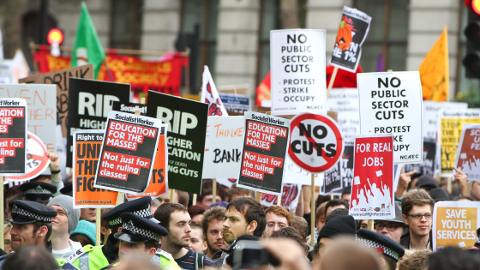 Student protestors at 2011 demonstration pic: Billy Rowlinson, flickr