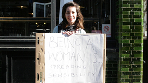 Being a woman is spreading sensibility