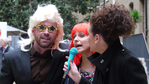 Singers giving their time and voice for Red Nose Day. Pic: Courtney Greatrex