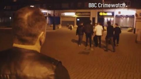 Reconstruction of attack on John and Gary Hayward in New Addington BBC Crimewatch