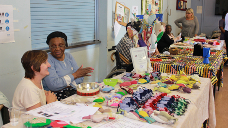 Stalls at Ladywell Day Centre's Spring Event Pic: Hana Walker-Brown