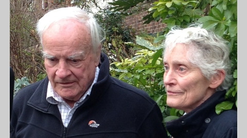 Professor Nicholas Mitchison (retired) and his wife Lorna- victims of burglary while they slept. Pic: Met Police