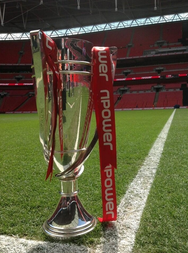 The winner of this trophy enjoys £120 million in benefits, and television rights. Pic: npower Championship