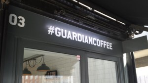 #guardiancoffee at Boxpark. Pic: ELL