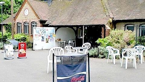 The café in Ladywell Fields Pic: Bill Konos