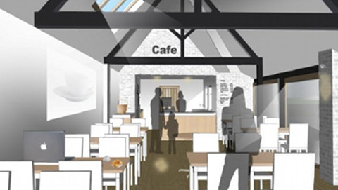 How a redesigned interior may look as proposed by the feasibility study