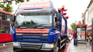 Save Lewisham Campaign garbage truck. Photo: Simon Way.